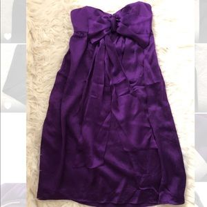 NWT Nicole Miller Purple Bow Dress, Size 0